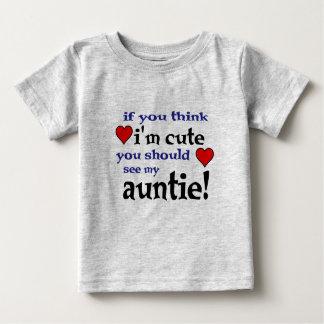 Você deve ver meu Auntie amar camisas do bebê t do