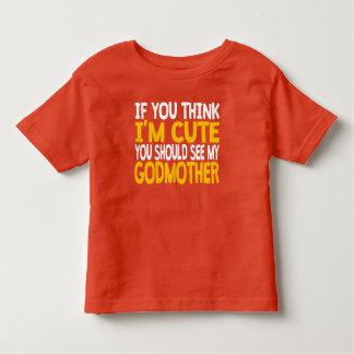 Você deve ver minha madrinha camiseta infantil