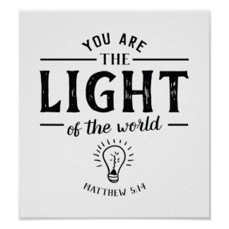 Você é a luz do poster da arte do mundo