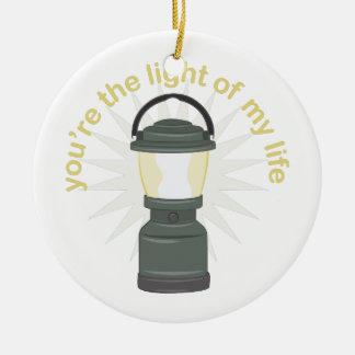 Você é a luz ornamento de cerâmica redondo