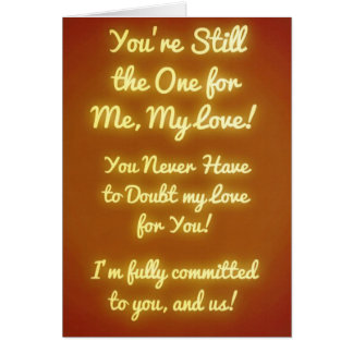 Você é ainda esse! Eu amo-o Cartão Comemorativo