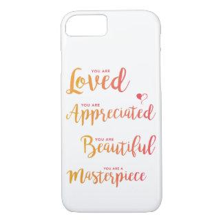 Você é amado e capa de telefone apreciada