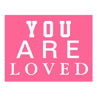 Você é amado - inspire - motiva - incentive cartão postal