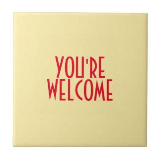 Você é azulejo bem-vindo