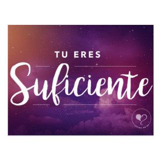 Você é bastante (espanhol) cartão inspirado