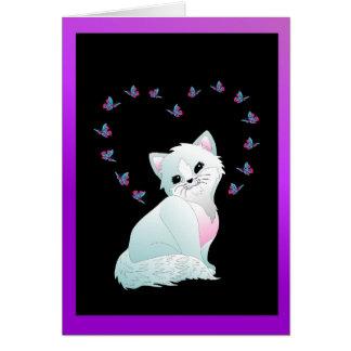 Você é cartão bonito do gato do purr-fect