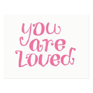 Você é cartão cor-de-rosa amado do incentivo