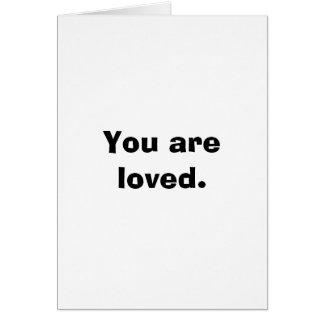 Você é cartão de nota amado