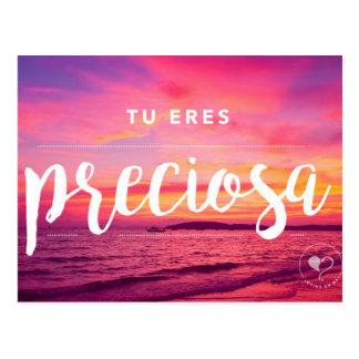 Você é cartão (espanhol) bonito do incentivo cartão postal