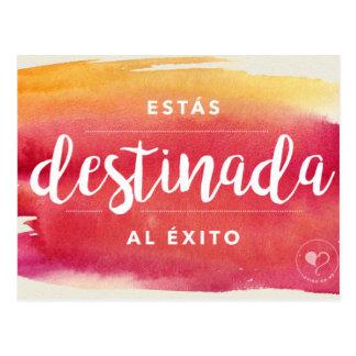 Você é cartão (espanhol) destinado do incentivo cartão postal