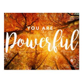 Você é cartão inspirados poderosos