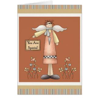Você é cartão Prim macio especial do anjo
