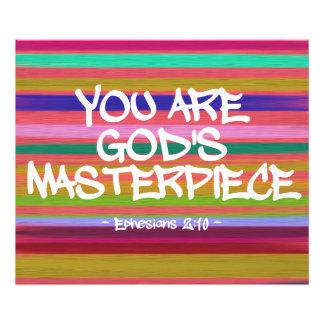 Você é citações de Ephesians da obra-prima do deus Impressão De Foto