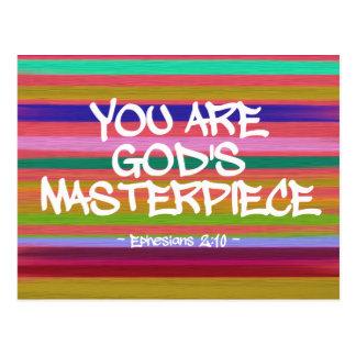 Você é citações de Ephesians da obra-prima do deus Cartão Postal