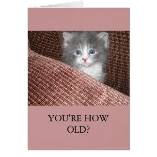 """""""Você é como idoso?"""" Cartão vertical"""