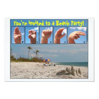 Você é convidado a um partido da praia!  Linguagem Convite 12.7 X 17.78cm