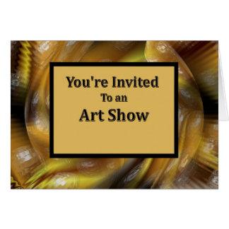 Você é convidado a uma mostra de arte cartões
