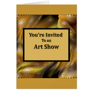 Você é convidado a uma mostra de arte cartão comemorativo