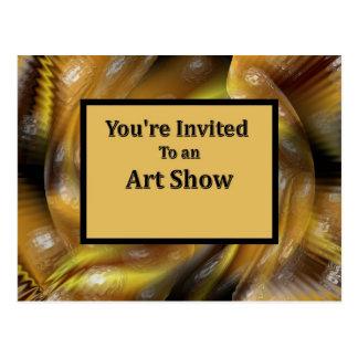 Você é convidado a uma mostra de arte cartão postal