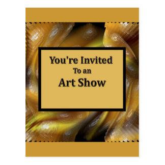 Você é convidado a uma mostra de arte cartao postal