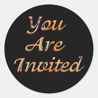 Você é convidado adesivo redondo