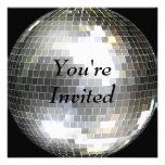 Você é convidado - bola do disco convites personalizado