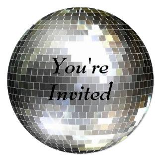 Você é convidado - bola do disco convite quadrado 13.35 x 13.35cm