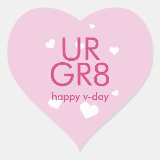 Você é coração roxo do lilac do grande dia dos adesivo coração