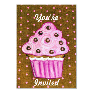 Você é cupcakes cor-de-rosa convidados convite 12.7 x 17.78cm