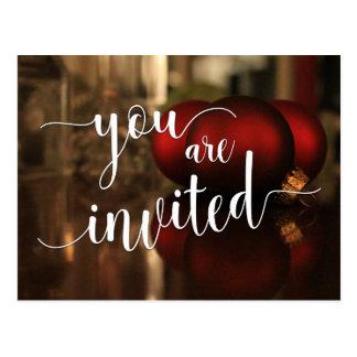 Você é decoração convidada do vermelho da festa cartão postal