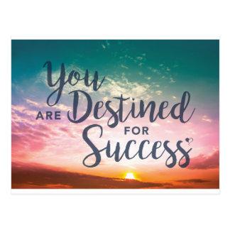 Você é destinado para o cartão do sucesso