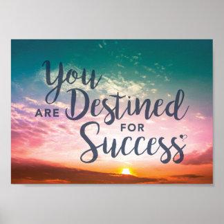 Você é destinado para o poster do sucesso