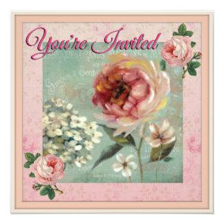 Você é estilo bonito convidado do vintage convite quadrado 13.35 x 13.35cm