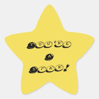 Você é etiquetas de uma estrela adesito estrela