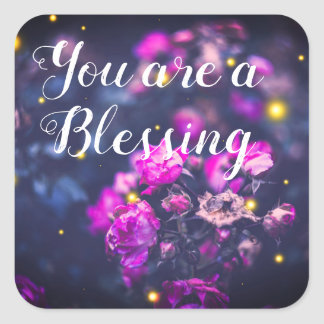 Você é etiquetas inspiradas de um jornal da bênção