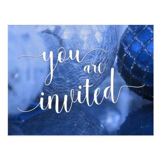 Você é festa de Natal convidada, bolas de vidro Cartão Postal