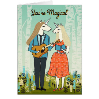 Você é mágico - unicórnios no cartão do amor
