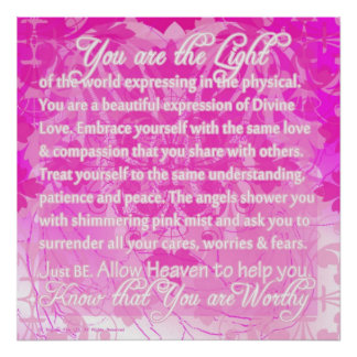 Você é mensagem inspirada digna de divino pôster