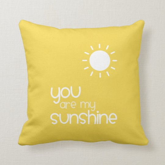 Você é meu amarelo da luz do sol almofada