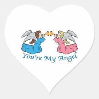 Você é meu anjo adesivo de coração