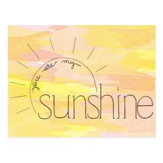 Você é meu cartão da luz do sol