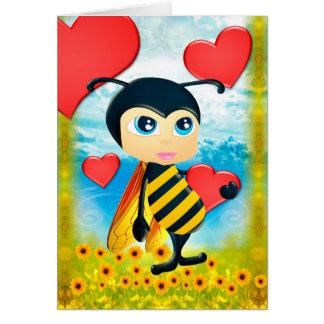 Você é meu cartão do amor da abelha do mel