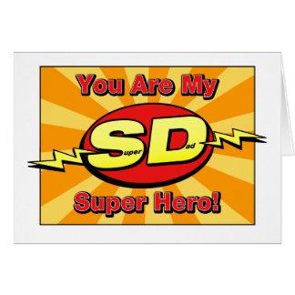 Você é meu cartão do dia dos pais do super-herói