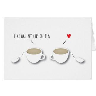 Você é meu copo do *Love* Indie romântico Cartão Comemorativo