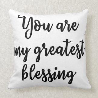 Você é meu grande travesseiro da bênção almofada