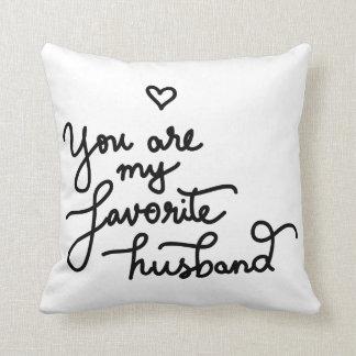 Você é meus namorados bonitos do coração do marido almofada