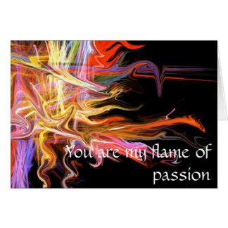 Você é minha chama do cartão fra do amor da paixão