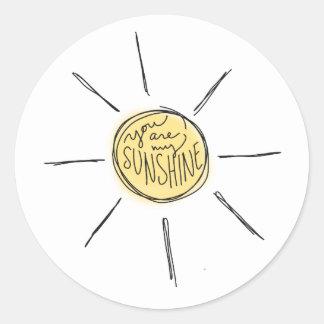 Você é minha etiqueta da luz do sol