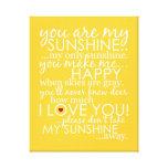 Você é minha luz do sol - amarelo - canvas impressão em tela canvas