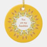 """""""Você é minha luz do sol! Do """"aguarela das citaçõe Enfeites Para Arvores De Natal"""